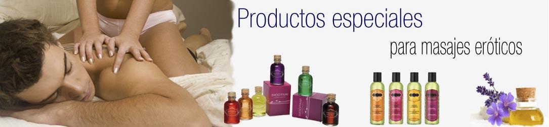 Productos para masaje erótico